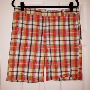 NWOT GAP Plaid Bermuda Shorts Size 10